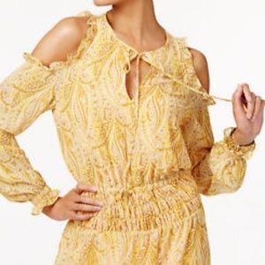 Michael Kors dress yellow midi could shoulder NWT